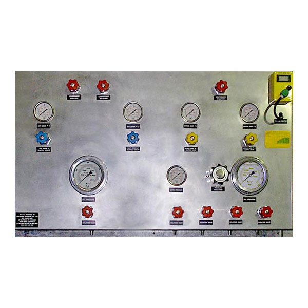 Commercial diver support air/nitrox panel