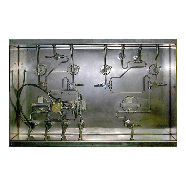 Stainless steel tubing on back of panel