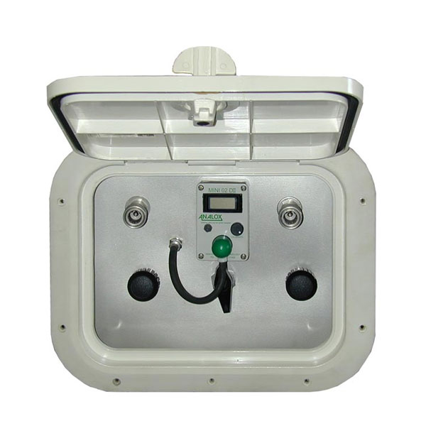 Watertight outdoor remote fill station