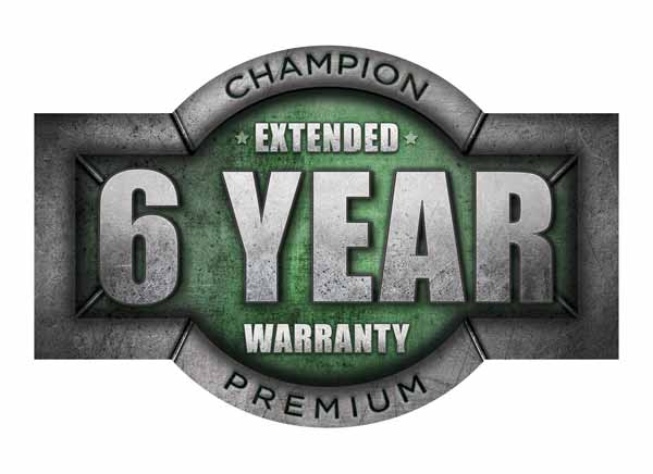 Champion 6 Year Premium Extended Warranty