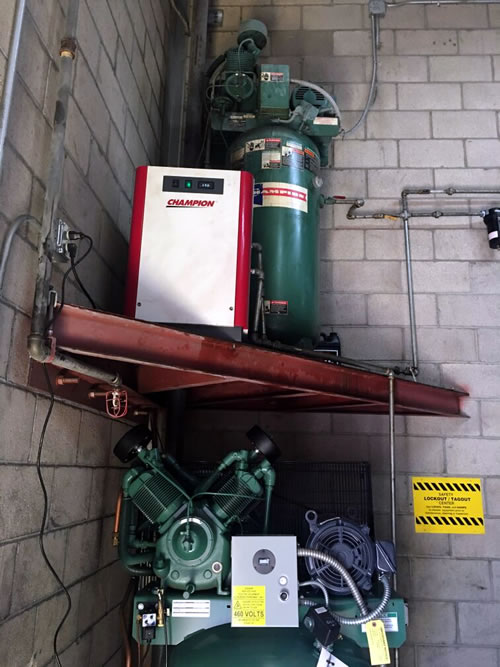 Automotive Repair Facility Compressor Installation