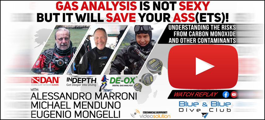 We would cordially like to invite you to take a deep dive into gas analysis with a focus on understanding international gas quality standards and the risks associated with contaminants such as carbon monoxide, and how you can minimize those risks and improve your diving safety. The presentation will be followed by a question and answer session.